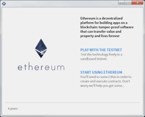 Ethereum Wallet - Ouverture