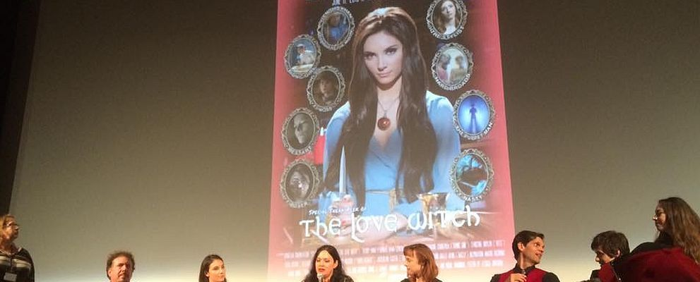 Anna Biller and the cast of THE LOVE WITCH panel at the Aero Theatre on June 11, 2016