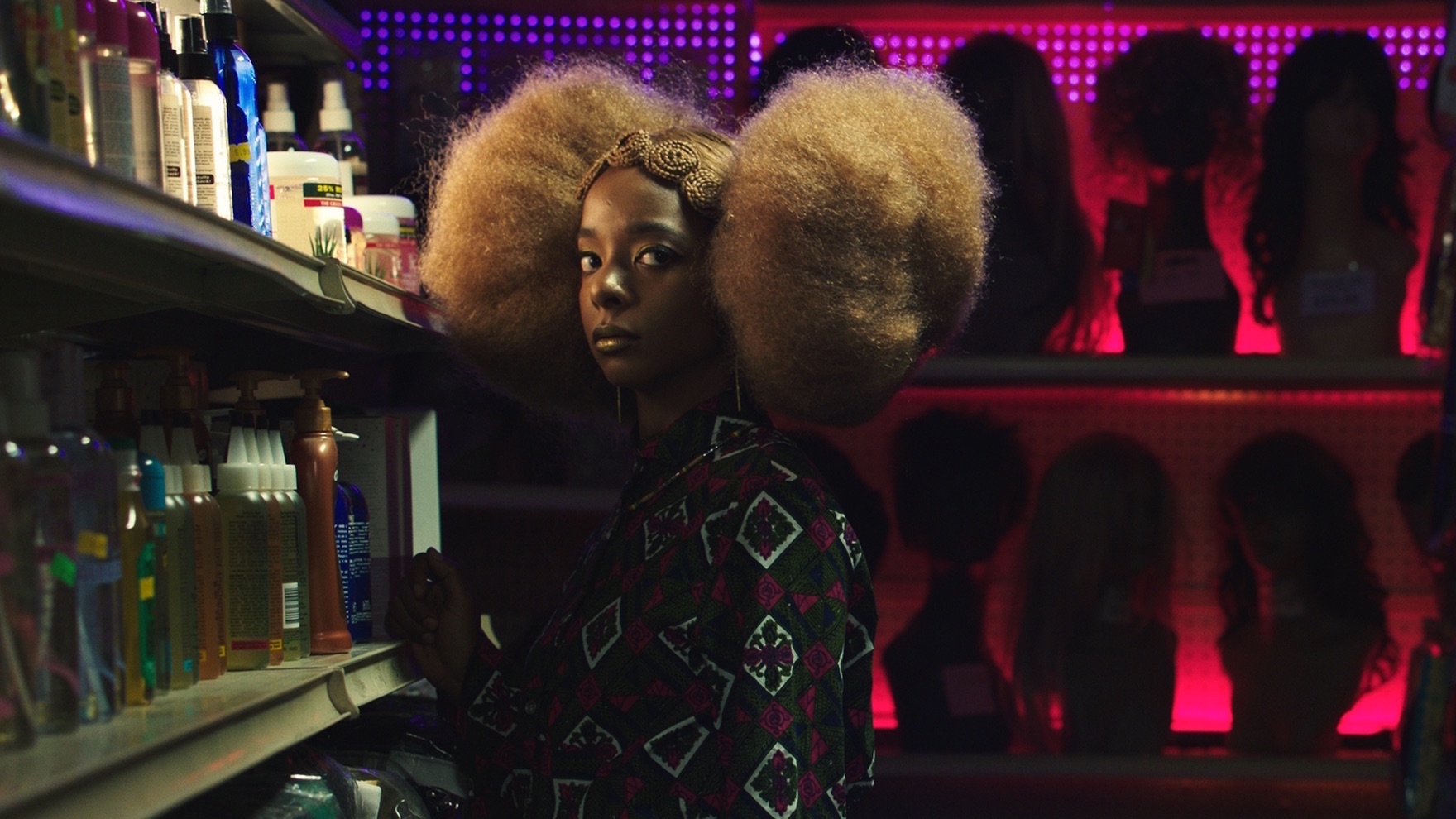 "Still from ""Hair Wolf"" directed by Mariama Diallo - Actress Kara Young, Photo by Charlotte Hornsby"