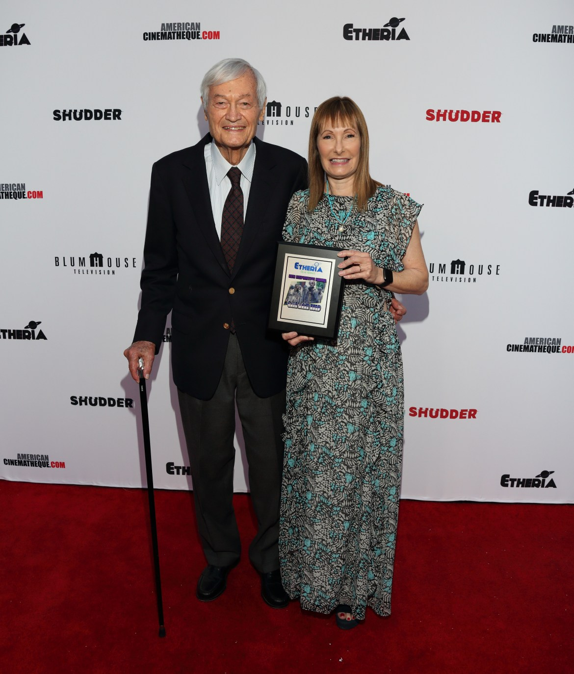 Roger Corman and Gale Anne Hurd at Etheria 2019
