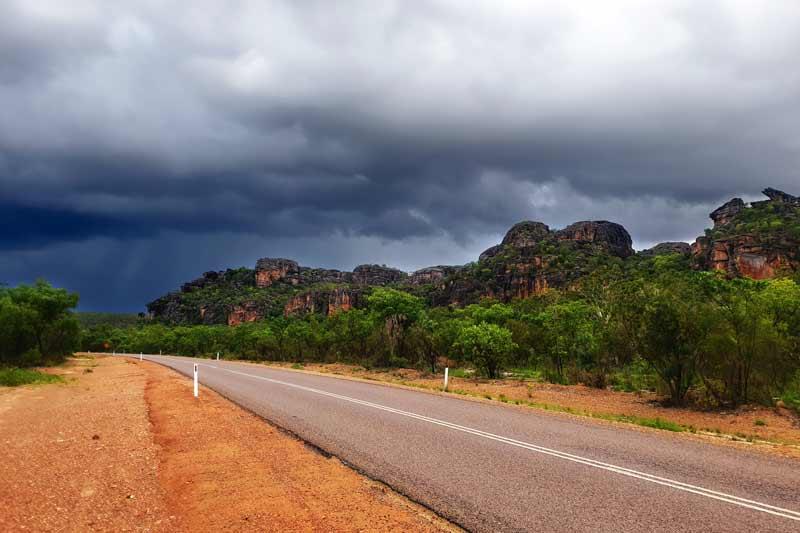 storm clouds on Arnhem - Kakadu Wet Season escarpment