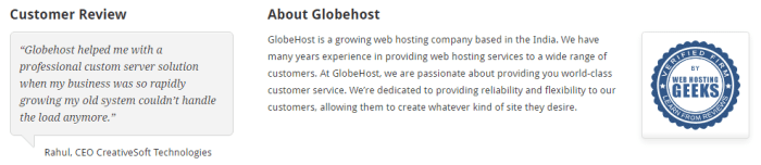 About GlobeHost