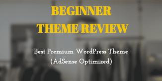 Beginner Theme Review: Best Premium WordPress Theme (AdSense Optimized)