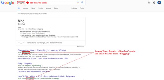 Domain Name Selection Guide Google Screenshot