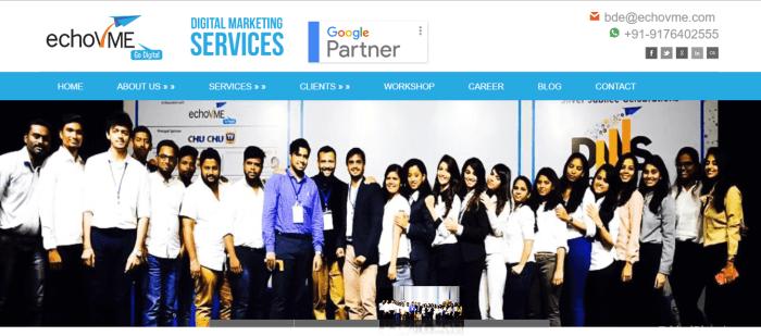 echovME Homepage Screenshot