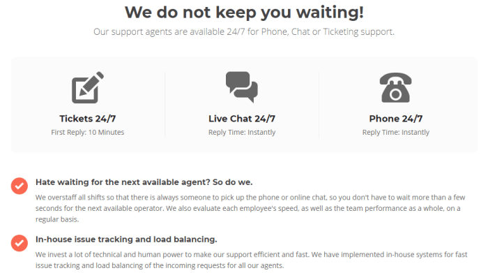 SiteGround Hosting Service Review Best Support Screenshot