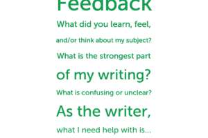 Writers Need Feedback (well, this one does)
