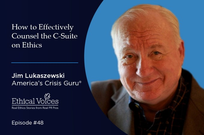 How to Effectively Counsel the C-Suite on Ethics: Jim Lukaszweski