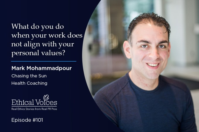 What do you do when your work does not align with your personal values?: Mark Mohammadpour