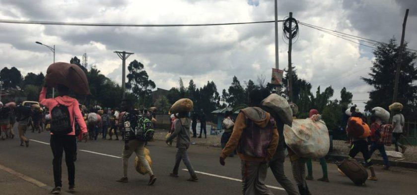 Violence and looting on the outskirts of Addis Ababa