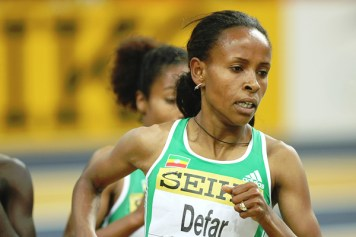 Meseret Defar of Ethiopia (photo: AFP/Getty Images)