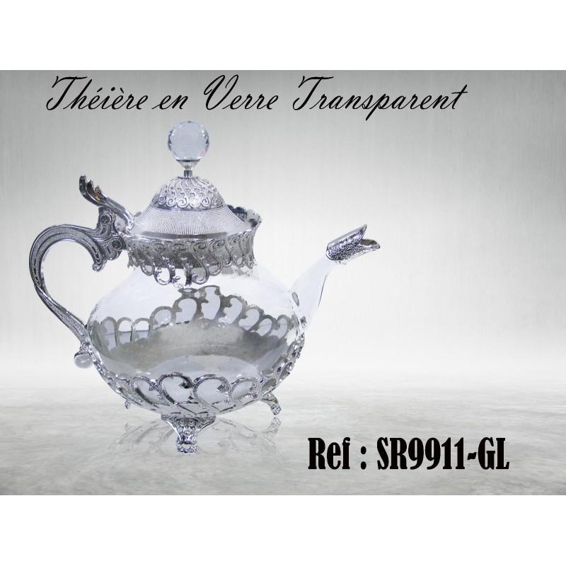 oriental watermark glass teapot