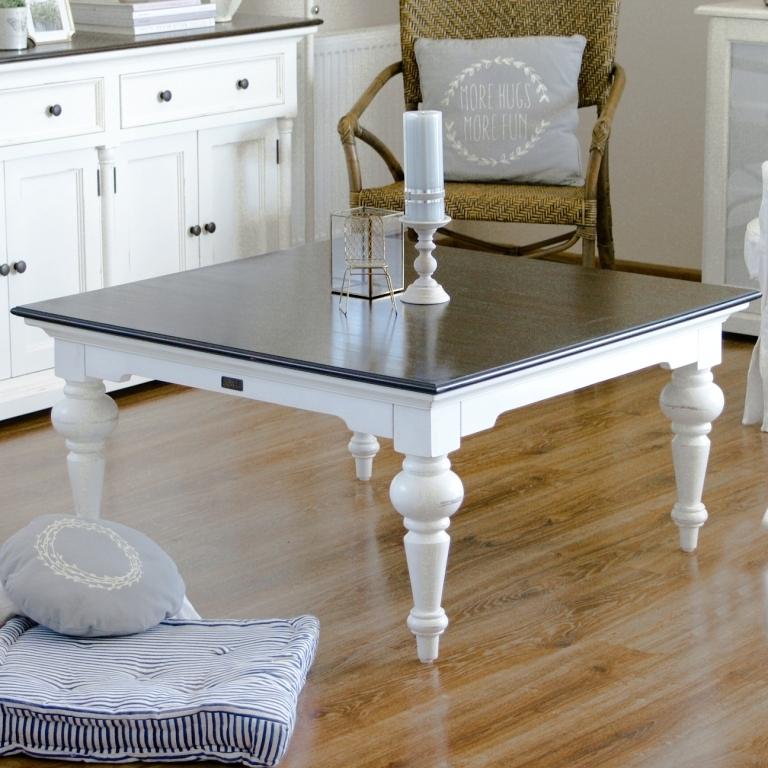 Tavolino francesecon decori legno di abetebianco. Tavolino Shabby Bicolore Mobili Provenzali Shabby Chic