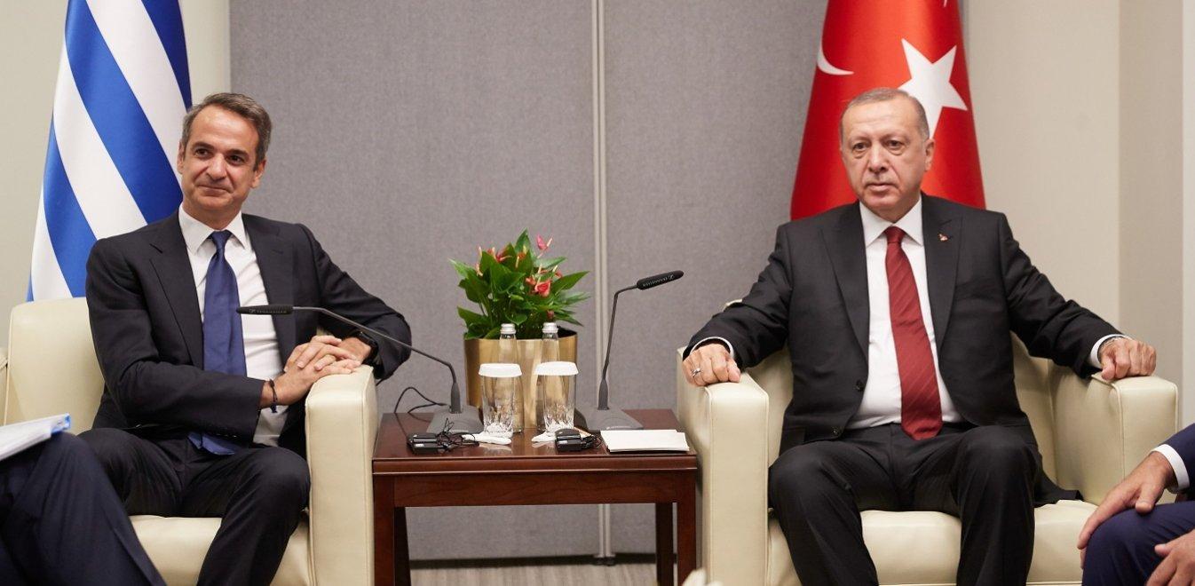 Σε κλίμα συνεργασίας η συνάντηση Μητσοτάκη - Ερντογάν