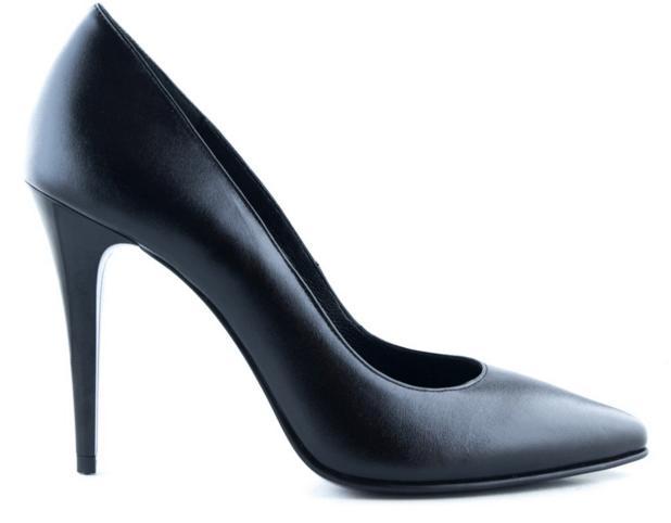 Pantofi stiletto negri din piele