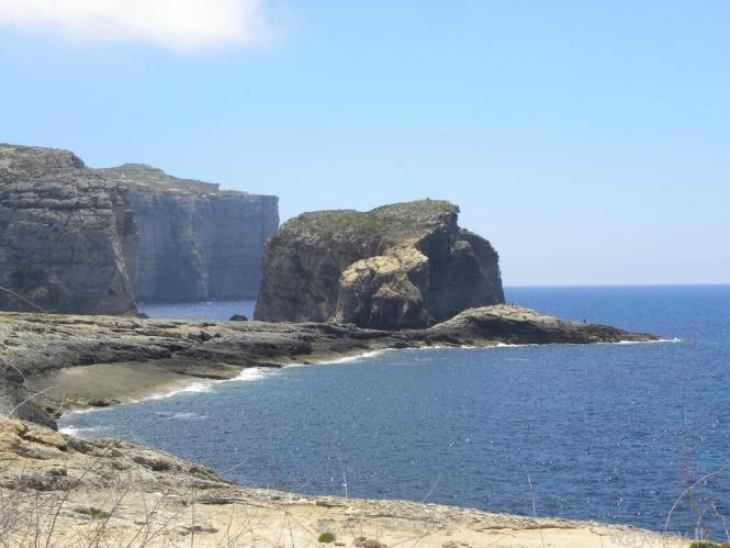 Fungus Rock. Dwejra Bay. Gozo island