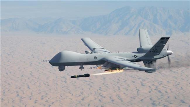 حملات هوایی نیروهای امریکایی بر مواضع طالبان در هلمند