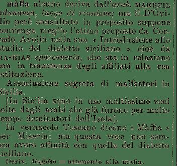 etimologia di mafia