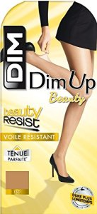 Dim Up Resist – Bas autofixants – Jarretière dentelle – 20 deniers – Femme – Marron (Cannelle) – 4