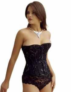 Vollers Black Corset à Sequins Noir V1113 38″ waist