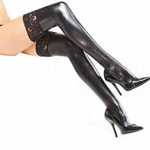 ZEARO Sexy Bas Collants Erotique En Faux Cuir Grande Taille Latex Pvc Body Catsuit Deguisement Lingerie