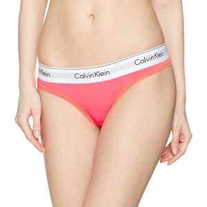 Calvin Klein underwear 000QF1672E, Tanga Femme, Rouge (Classic Wb), 40 (Taille Fabricant: Large)