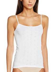Damart Débardeur Fines Bretelles Petits Cœurs Thermolactyl Degré 3, Caraco Femme, Blanc (Blanc), 50 (Taille Fabricant: XL)