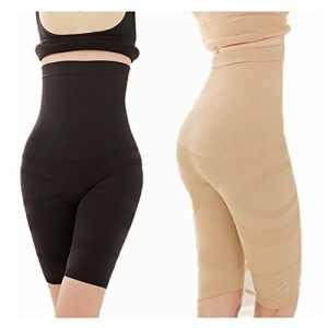 INIBUD 2 x Culotte Gainante Sans Baleine pour le Ventre et les Cuisses Panty Minceur Ventre Plat Serre Taille Panty Gainant Lingerie Sculptante (2pcs, 36/38)