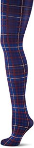 Tommy Hilfiger TH Women Tartan 1P, Collants Femme, Bleu Midnight (563), L