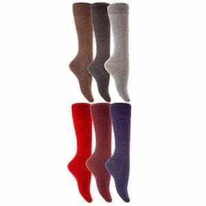 Lian LifeStyle – Chaussettes montantes – Femme Medium – – Medium