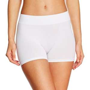 Pieces Pclondon Mini Shorts Noos, Boxer Femme, Blanc (Bright White Bright White), 40 (Taille fabricant: L/XL)