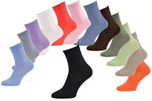6 paires de chaussettes Midi en BAMBOU pour Chaque Jour, Délicates Antibactériennes Respirantes Douces Confortable Unisexe Blanc Pack, tailles 36-38 Certificat d'OEKO-TEX, Made en Europe