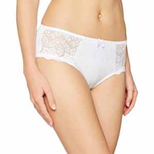 DORINA Curves Philippa – Culotte Shorty Femme D65006 – Détail en dentelle florale – L – Blanc