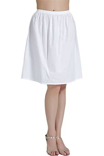 5f98c4643f0df6 Femme Jupon Lingerie Sous-Jupe Robe Coton Blanc Noir Ivoire Court Mi ...