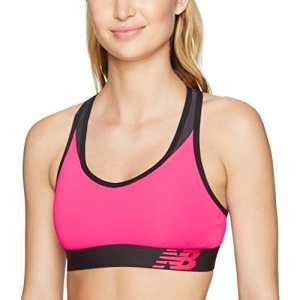 New Balance Nb Pace Print Brassière de sport pour femmes, Femme, WB71034, Rose (Alpha Pink), Taille S