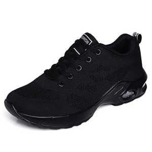 kashiwu Nouveau Femmes Air Sports Chaussures de Course Choc Absorbant Trainer Courir Jogging Trainers Unisexe Gym Trainers Fitness Léger Chaussures (All Black 41EU)