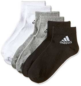 Adidas per Ankle T 3pp Chaussettes Mixte Adulte, Black/Medium Grey Heather/White, FR : 4XL (Taille Fabricant : 5154)