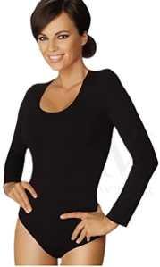 Gatta Body à manches longues avec col rond, très confortable, sans coutures latérales, L – – Large