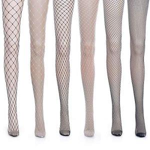 Vordas 6 Paires Collant Bas Résille Grande Taille – Collants Résilles Maille Femme Bas Sexy Sans Couture Filet