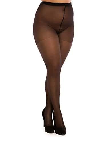 BIGGI BIG Daily 20 DENIER Collants grande taille à 62 Plus Size 4XL-noir-54-56