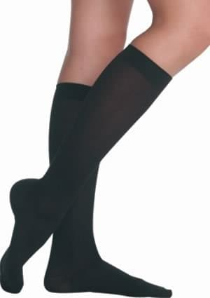 Juzo Soft Knee High With Silicone Dot Band 30-40mmHg Closed Toe, II, Beige by Juzo
