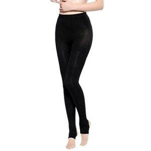 Aivtalk Leggings Épais Femme Élastique Conforte Collant Noir Taille Haute Amincissant pour Printemps Automne Taille L