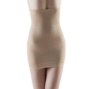 Femme Taille Haute Jupe Sculptante Gainante Amincissante Ventre Plat Body Shapewear Skirt Nu L