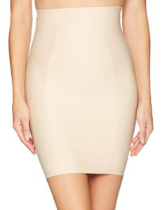 Yummie Femme Hidden Curves High Waist Skirt Slip Semi-Combinaison Gainante – Beige –