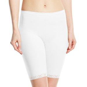 sloggi Basic+ Long, Short Femme, Blanc, Taille 40