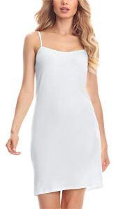 Merry Style Fond de Robe Lingerie Femme MS10-203(Blanc, XXXXXL)