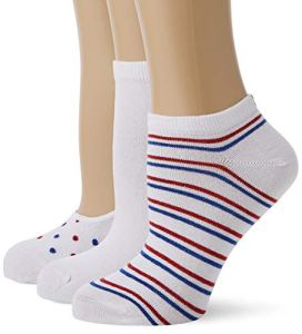 Tommy Hilfiger TH Women Vanity Pack 3P Chaussettes, Rouge (White/Blue/Red 105), 39/42 (Taille Fabricant:039) (Lot de 3) Femme