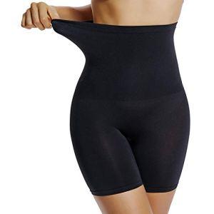 Joyshaper Culotte Femme Sculptante Gaine Amincissante Ventre Plat Invisible sous-vêtements Panty Taille Haute, Noir, XXL