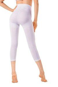 MD Legging Effet Sculptant Femme Leggings Anti-Cellulite Amincissants et resculptants Large Blanc