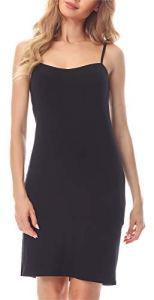 Merry Style Fond de Robe Lingerie Femme MS10-203(Noir, M)